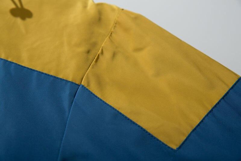 Color Block Patchwork Half Zipper Pullover Jackets 6