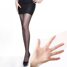 Buy Women's Tights Sexy Silk Stockings Thin Lady Vintage Stockings high elastic Transparent Pantyhose Female Hosiery T crotch E23