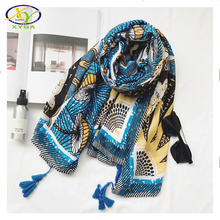 1PC 180*100CM 2017 Spring New Korea Style Acrylic Cotton Women Long Tassels Scarf Woman New Cotton Viscose Pashminas Shawls
