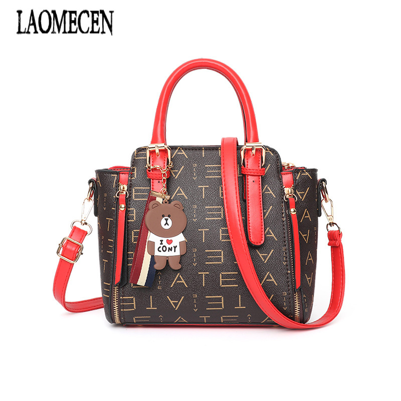 Women Desinger Handbags Valentine Bags Ladies Brands Trapeze Bags Tassel Bear Louis Tote Bag Leather Tas Vrouwen Stella