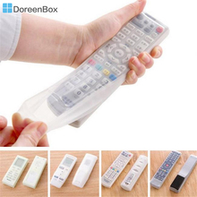 Doreen Box 1 pc Storage Bags TV Remote Control Dust Cover Protective Holder Organizer Home Air conditioning Control Waterproof(China)