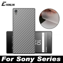 Buy Carbon Fiber Back Cover Screen Protector Protective Film Sony Xperia Z Z1 Z2 Z3 Z4 Z5 Compact Mini Premium Plus C4 M4 L1 for $1.37 in AliExpress store