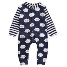 autumn Newborn Infant Baby Boy Girls Outfits Cotton Romper Cloud Jumpsuit One-pieces(China)