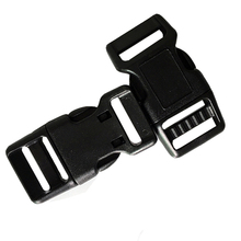 20mm 3/4 curved plastic side release buckles for dog collar accessories high quality pet collar accessories(China)