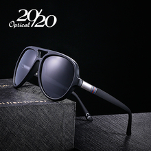 20/20 Classic Polarized Sunglasses Men Glasses Coating Black Oval Frame Driving Eyewear Male Sun Glasses Oculos PL302(China)