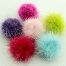10pcs 40mm real Mink Fur Ball fur pom poms DIY DIY for Jewellery Making Free Shipping