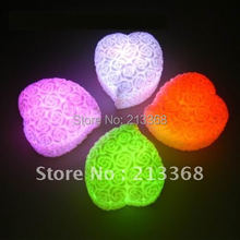 Romantic Colors Changing Roses Heart LED Night Light Decoration Candle Lamp Nightlight,Novelty Nice Gift