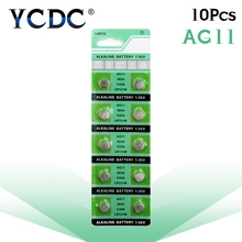 10pcs/pack AG11 LR721 362 Button Batteries SR721 162 Cell Coin Alkaline Battery 1.55V For Watch Toys Remote(China)