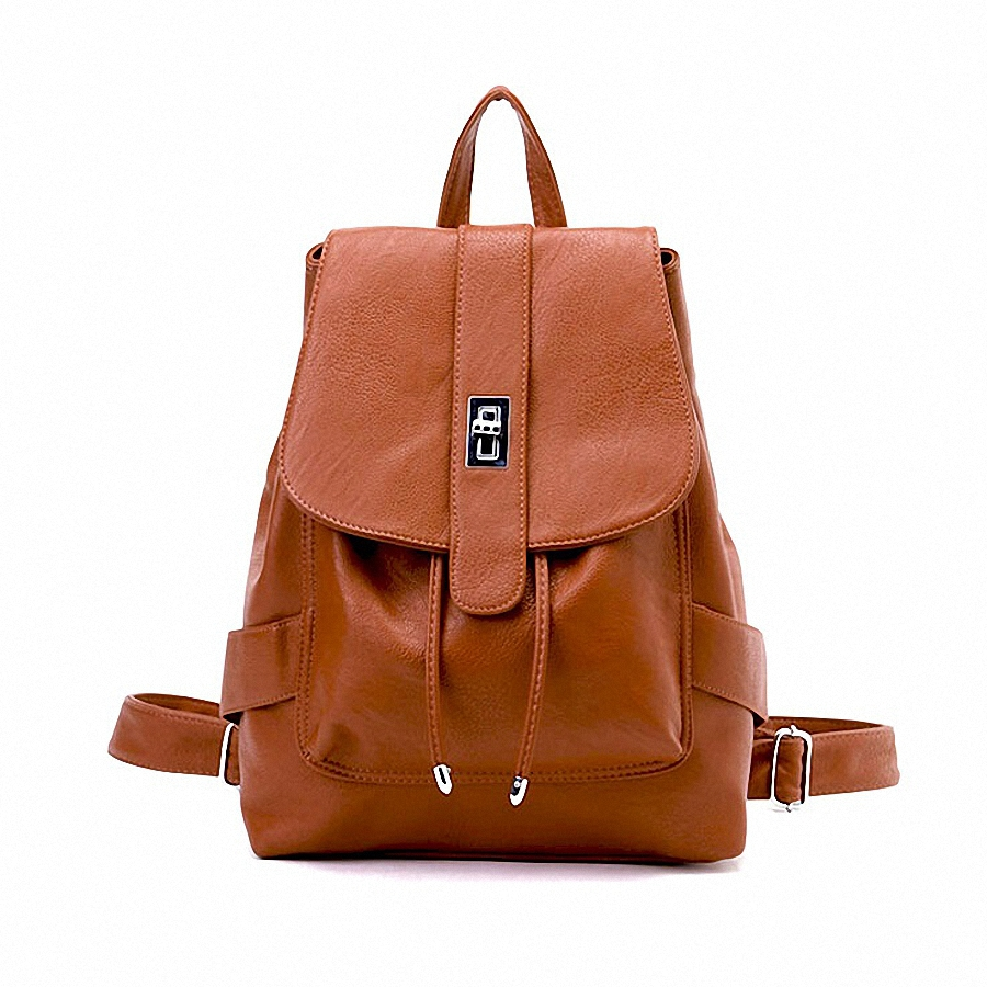 Fashion Womens PU Leather Backpack for Teenage Girls Ladies Bags with Zippers travel Bags Shool Student bag<br>