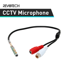 Adjustable High Quality Mini Audio CCTV Microphone Surveillance Wide Range Sound Pickup Audio Monitor for Security Camera(China)