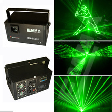 Free Shipping 1W green laser light  / disco club laser show design ILDA 1000mw green laser diy disco laser light