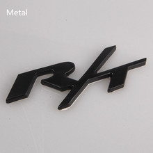 100Pcs Auto Car Red/Black/Silver R/T RT Emblem Decal Badge Sticker Metal/Abs Fit for Dodge Challenger Charger DHL Freeshipping