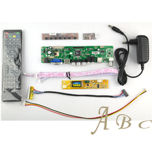 HDMI CVBS RF USB VGA AV TV Controller Board + Inverter + Lvds Cable + Remote Kits for Raspberry PI 1280x800 1ch 6 bit LCD Panel