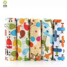 New 100% Cotton Fabric Cartoon Series Fat Quarter Bundle Quilting Patchwork Sewing Clothes 5 pieces/lot 40X50cm  A2-5-1