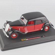 Brand designer Collectible model 1/24 Scale metal 1938 Citroen 15 CV TA vintage diecast styling racing cars auto toys for kids(China)