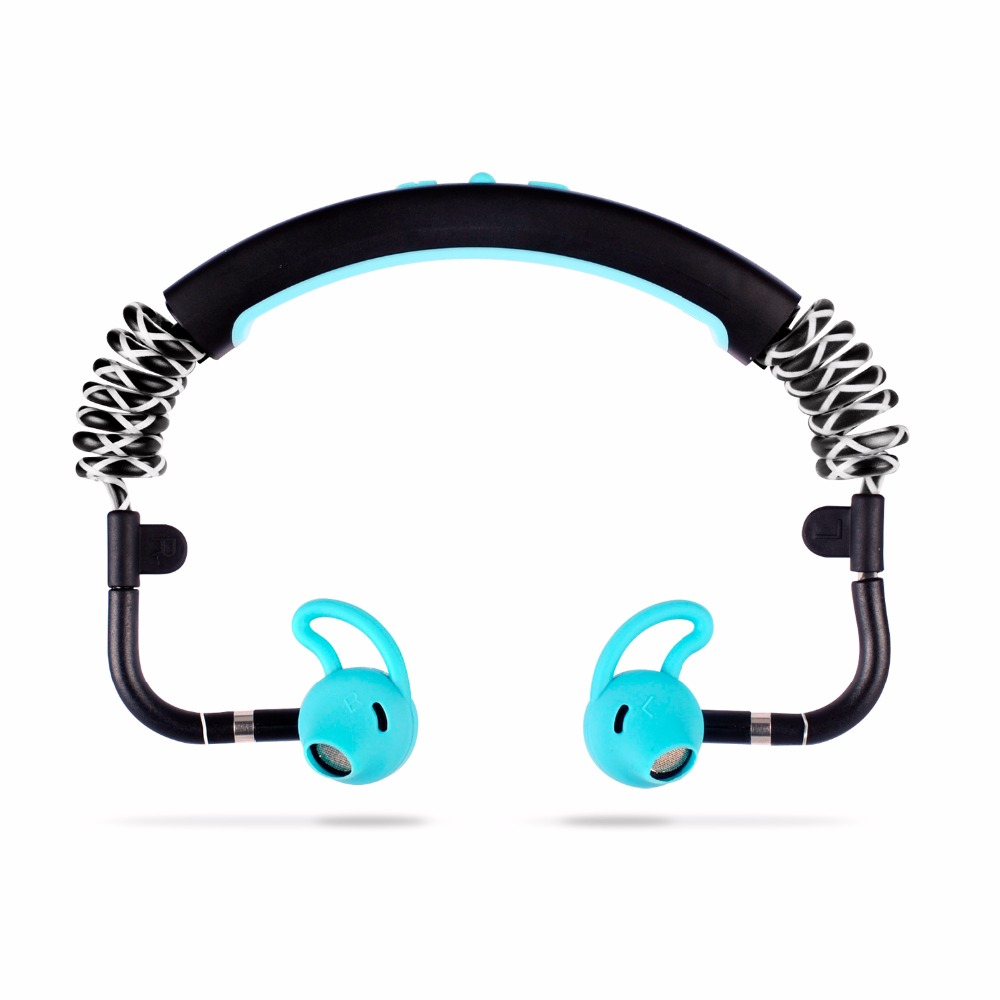 Stylish Stick Waterproof Bluetooth Sports Flexible Headset Noise Cancelling Wireless Music Phone Calls Headphone Stereo Earphone