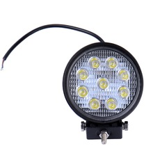 27W IP67 LED DRL Work Light Spotlight Fog Light Off Road Automobiles Train Bus Boat Floodlight 4x4 ATV UTV 12V 24V LED Car Light