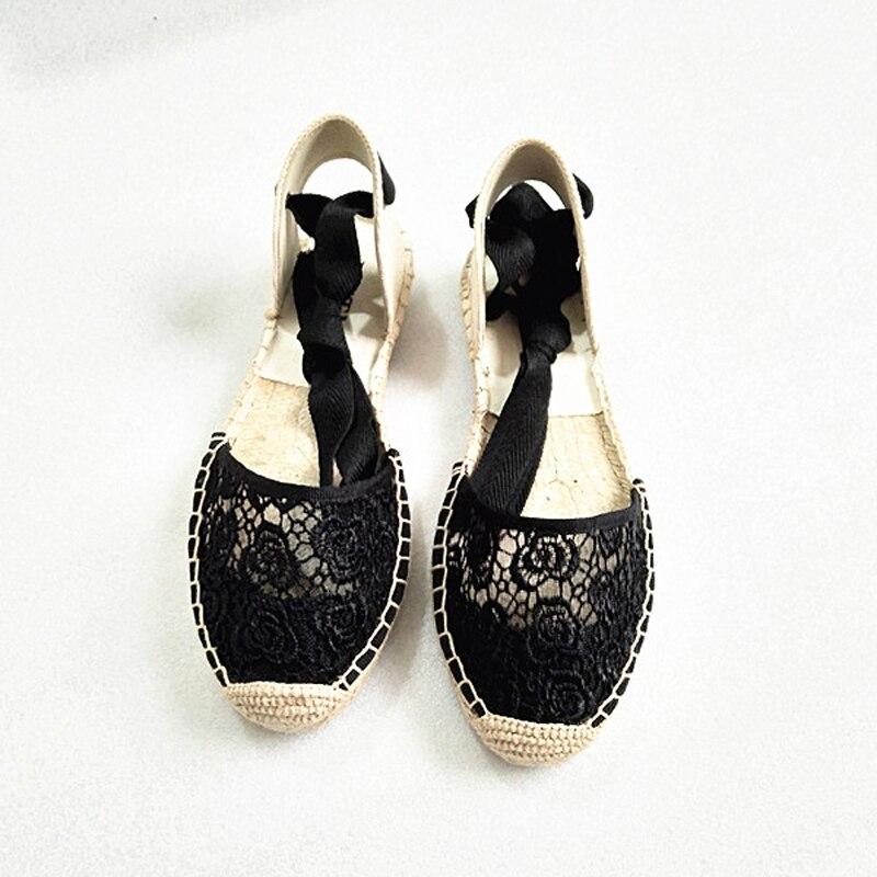Canvas Summer Women's Espadrille Sandals Flats Ankle Strap Hemp Bottom Fisherman Women Shoes For 2018 SpringAutumn Women Loafer (19)