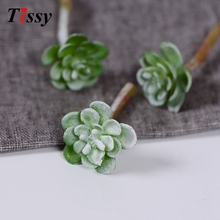 20PCS/Lot Artificial Land Lotus Rare Plants Succulent Grass Plant Landscape Fake Flower Home Garden Decor Wedding Decoration
