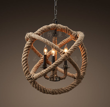 Retro industry style pendant light personality hemp rope nostalgic vintage pendant light preparation ZZP