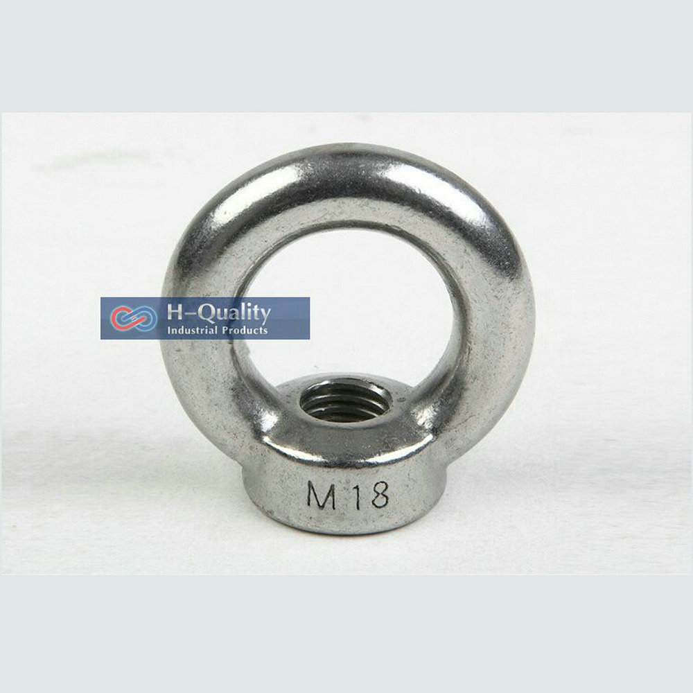 Rigging Hardware Heavy Duty M24 DIN582 Metric Thread Stainless Steel 304 Lifting Screw Eye Nut<br>