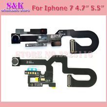 SHAMKELLY Small Front Facing Camera Flex Cable with Light Proximity Sensor Microphone for iPhone 7 plus 7G 7P repair parts