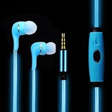 Original LED Luminous Earphone LED01 Night Lighting Stereo Headset with mic for iPhone 6 5s Xiaomi mi samsung huawei oppo mp3 dj