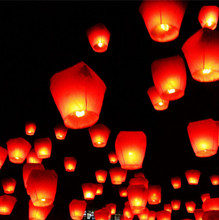 Brazil Free Shipping Chineses Kongming Lantern Flying Sky Lantern Wishing Lamp Hot Air Balloons (10pcs Assorted Color)