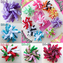32pcs BLESSING Happy Girl Hair Accessories 2.5 Inch Corker /korker Hair Bow Clip Rolls of ribbon attached on alligator clip(China)