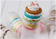 650pcs free shipping Food grade Push Up Pop Containers push Cake Pop cake container for Party Decorations Round shape