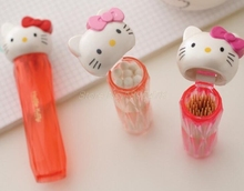 500PCS Kitty Cat Transparent Cotton Sticks Toothpick Holder.Pocket Small Portable Toothpick Box Home Dining Table Storage Box