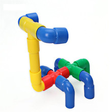 DOLE TIGER Colorful puzzle pipe toy connecting plastic building Bricks toys for kidS(China)