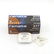 5pcs RETAIL Brand New Renata LONG LASTING 377 SR626SW SR626 V377 AG4 Watch Battery Button Coin Cell Swiss Made 100% Original(China)