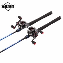 SeaKnight Fishing Combo Carbon Fiber Lure Fishing Rod NEC M/ML with Baitcasting Reel 11+1BB VIPER Fishing Wheel Max Drag 7.5KG