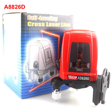 ACUANGLE A8826D Laser Level 2 Red Lines with 1 Point 360 degree Rotation Self- leveling Cross Laser Levels(China)