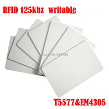 10pcs RFID EM4305 CET5557 t5577 t5557 125KHZ frequency access id card writable write copy code key tag keyfobs