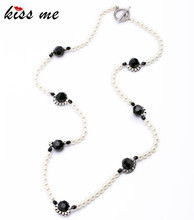 Romantic Women Shourouk Beads Chain Simulated Pearls Necklace Fashon Jewelry Banquet Accessories Factory Wholesale