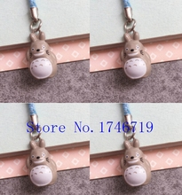 New 50 pcs Cute Japanese anime My Neighbor Totoro Claus key chains Cartoon Cell Phone Strap Bell Charm Gift(China)