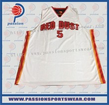 Mesh quick dry jersey baketball shirt best basketball design training uniform breathable