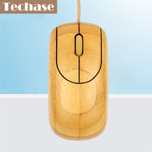 Techase Wired Mouse Wooden Mause Gamer Rato Gaming Com Fio Bamboo Souris Ordinateur Mouses Souris For Computer With CE FCC Muis(China)