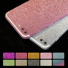 Bling 360 Degree Shiny Full Body Glitter for iPhone 5 5S SE 7 6 6S plus 7plus Candy Color Phone Sticker Matte Screen Protector