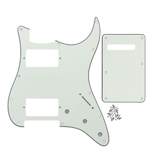 3Ply Ivory Color 11 Holes ST Guitar Pickguard HH Gutiar Tremolo Spring Cover for FD Strat Guitar(China)
