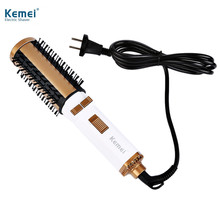 Kemei KM - 817 EU Plug 220V Hair Culer Professional Hair Styling Tool Negative Ion Hair Care Volume Dryer Curler Comb