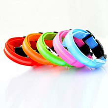 Puppy Dog Cat Night Safety Flashing Luminous LED Light Adjustable Pet Collar 10WG