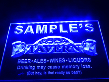 DZ025- Name Personalized Custom Tavern Man Cave Bar Beer   LED Neon Light Sign hang sign home decor  crafts