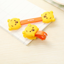 2 Pieces Kawaii Cute Cartoon Mobile Phone earphone USB Cable Organizer Winder Fastener Wire management Holder clip