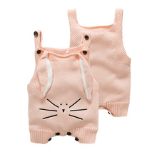 Buy Baby Knitting Rompers Cute pink grey Overalls Newborn Baby Clothes Spring Winter Baby Girl Boy Sleeveless Romper Jumpsuit for $11.89 in AliExpress store