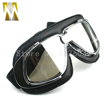 Free shipping HELMET Goggles Open face off road motorcycle helmet motocross Goggles glasses Scooter Eyewear silver lenses