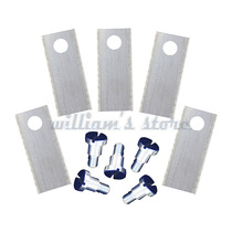 9PCS Auto Mower Blades For BIGMOW Robot Mower Blade L42*W17.5*To.6mm