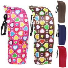 350ml Baby Bottle Insulation Holder Bag Water Bottle Warmers Baby Stroller Hanging Bags Travelling With Baby Kids Care Organizer(China)